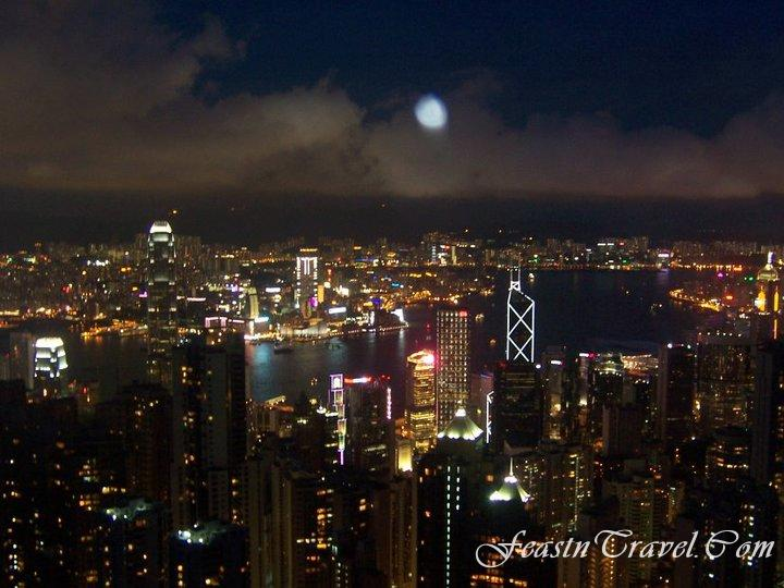 Hong Kong View from the Peak at Night