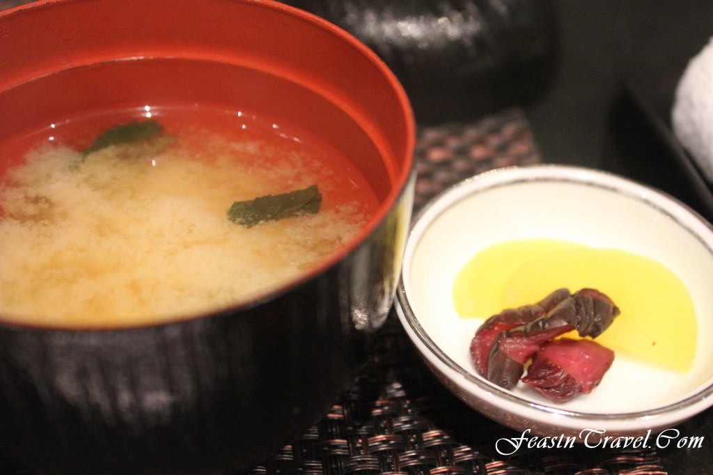 Miso soup and pickles